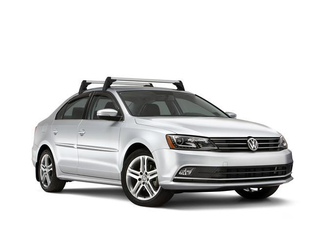 Diagram Base Carrier Bars - Black/Silver (5C6071126) for your 2016 Volkswagen Jetta